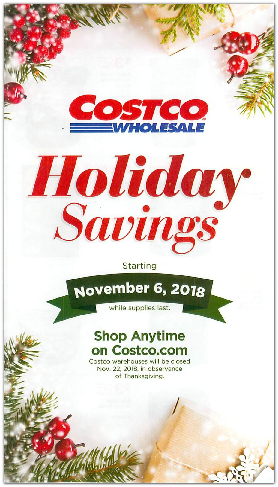 Costco Holiday Catalog page 1
